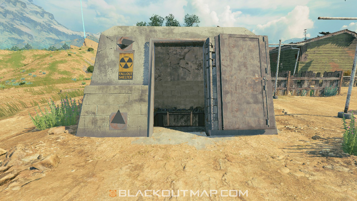 Blackout Interactive Map - Underground Entrance - Nuketown Island
