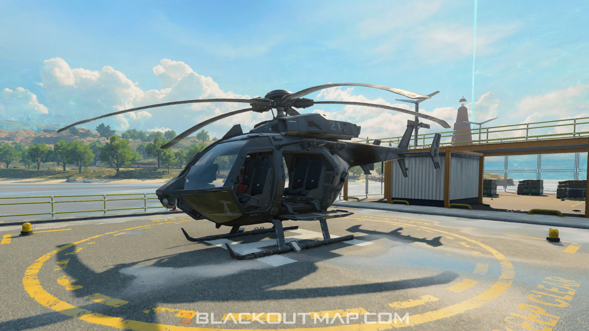 Blackout Interactive Map - Helicopter - Nuketown Island